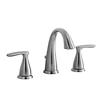 AquaSource Brushed Nickel 2-Handle Widespread Commercial Bathroom ...