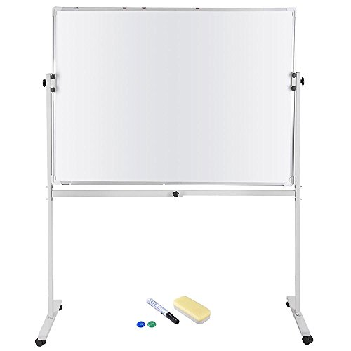 Yescom 48''x36'' Magnetic Writing Whiteboard Double Side Dry Erase Aluminum Frame with Adjust Mobile Stand by Yescom