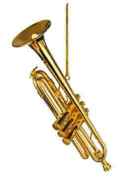 Brass 4.5 Gold Trumpet Musical Music Instrument Replica Ornament