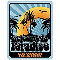 WELCOME TO PARADISE Cayman Islands - Countries - Parking Sign [ Decorative Novelty Sign Wall Plaque (Country Cayman Islands)