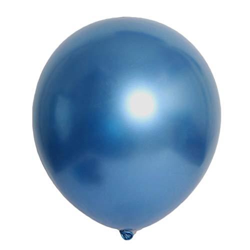 SANGNI 50 Pcs 12inch Chrome Shiny Metallic Latex Balloons for Child Boy Girl Grandparent Parent Birthday Wedding Grad Party Proposal Surprise Celebration Event Evening (Chrome -