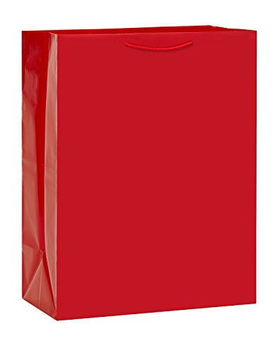 American Greetings Jumbo Gift Bag, Solid Red