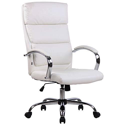 31bGVs%2BzsnL. SS500 MATERIALES: La silla ejecutiva cuenta con un agradable acolchado y un tapizado disponible en tela (100% poliéster) o en cuero sintético (100% poliuretano) según su elección. La base está disponible en metal cromado, reistente y fácil de limpiar. CARACTERÍSTICAS: La silla de oficina ofrece una postura ergonómica gracias a su forma y cualidades de asiento, la libertad de movimientos viene dada gracias a su respaldo con mecanismo de balanceo, su asiento giratorio y regulable en altura. La silla de oficina es cómoda y ofrece gran libertad de movimientos. DIMENSIONES: La silla de escritorio cuenta con las siguienes medidas aproximadas: Altura: 112 - 122 cm I Ancho: 64 cm I Profundidad: 70 cm I Altura del asiento: 44 - 54 cm I Superficie del asiento (AxP): 54 x 52 cm I Altura del respaldo: 72 cm I Altura de los reposabrazos: 67 - 77 cm I Capacidad máx. de carga: 136 kg I Peso: 16 kg.