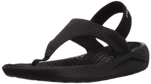 - Crocs Women's Literidemshflpw Flip-Flop, Black, 4 M US