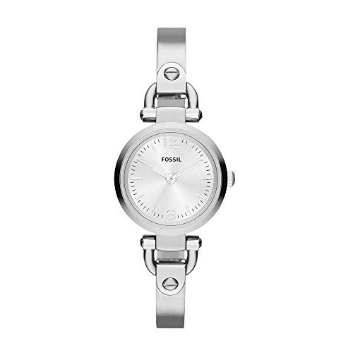 Fossil Women's Georgia Mini Quartz Stainless Steel Dress Watch, Color: Silver (Model: ES3269)