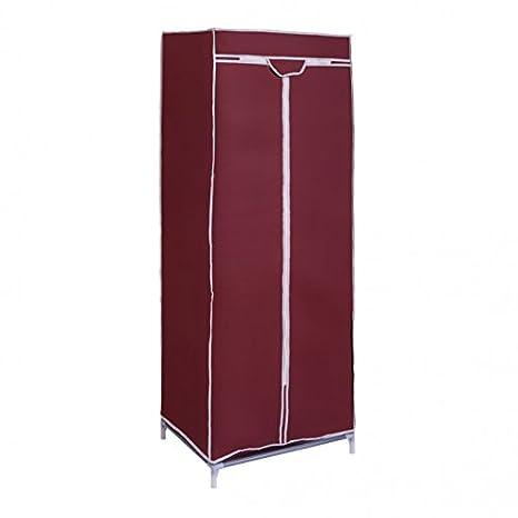 Ducomi Narnia –  Folding Closet Wardrobe Organizer with Shelf in Fabric –  60 x 45 x 150 cm pink