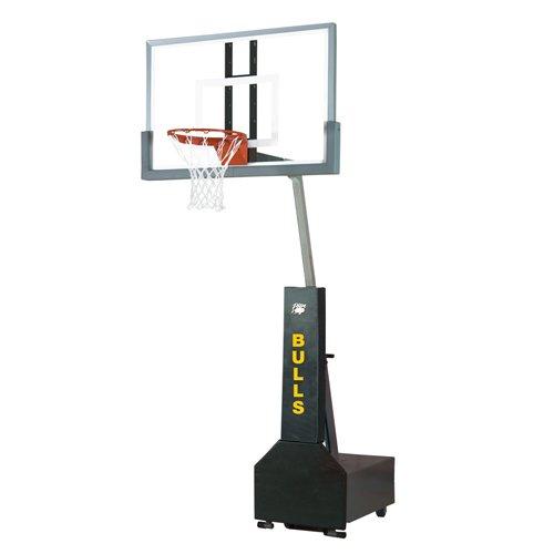 Bison Club Court Portable Basketball System - Glas
