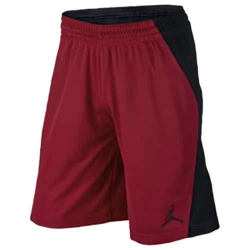 Jordan Men's Flight Air Shorts (Medium, Black/Red)