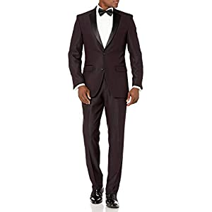 Best Epic Trends 31bGazIg9zL._SS300_ Perry Ellis Men's Slim Fit Stretch Wrinkle-Resistant Tuxedo