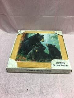 Highland Graphics Absorbastone 3 Bears Framed Trivet