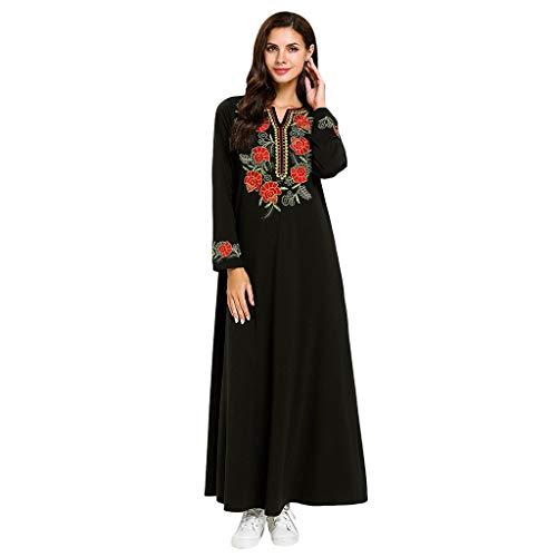 FONMA Muslim Arabic Kaftan Long Abaya Maxi Dress Islamic Women's Clothing