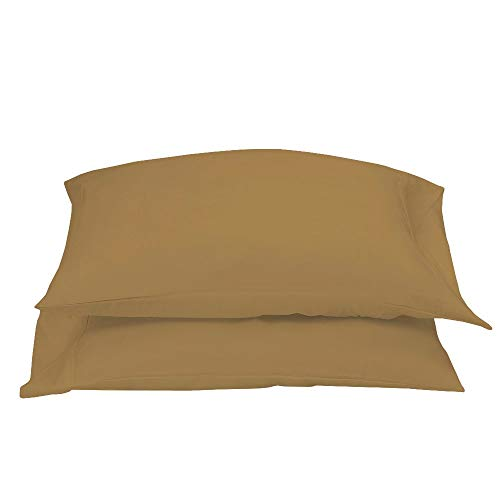 Collection 400 Thread - PLAIN PRINTED LINEN 400 Thread Count 100% Cotton Pillowcase Set, Soft & Breathable Sateen Weave, Hotel Collection Wrinkle Free Hypoallergenic & Luxury Bedding,Pillowcase (Body, Taupe Solid)