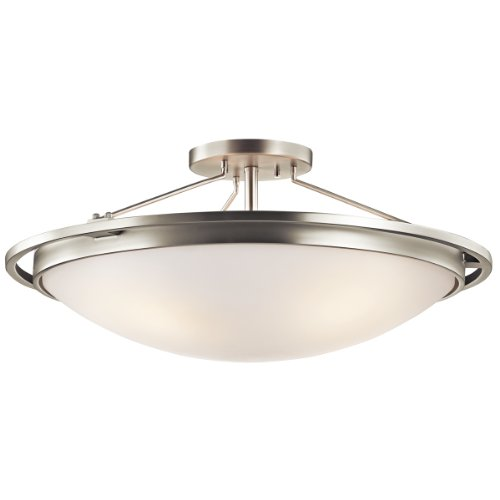 Kichler 42025NI Four Light Semi Flush Mount