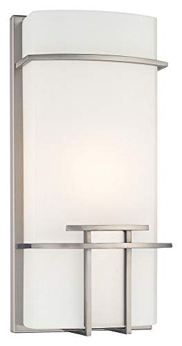 (George Kovacs P465-084, ADA 1-Light Wall Sconce, Brushed Nickel )