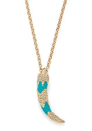 Save the elephant necklace (Turquoise)