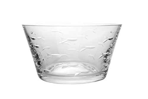 Rolf Glass School of Fish Salad Bowls-Set of 4 ()