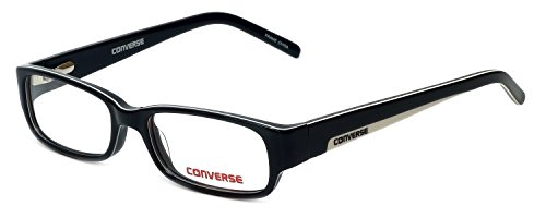 Converse Lightweight & Comfortable Kids Designer Eyeglasses At The Wheel in Black 47mm DEMO LENS