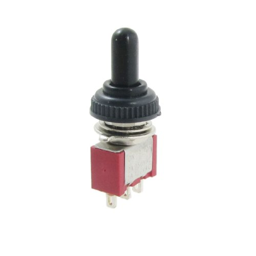 X-Dr AC 250V 2A 120V 5A on/off/on Momentary SPDT Toggle Switch with Waterproof Boot (465901cd-a222-11e9-8d7c-4cedfbbbda4e)