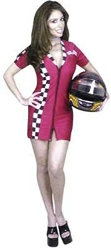Red Racer Girl Costume (Women Large (11-13) Red Racer Girl Costume (Helmet not included))