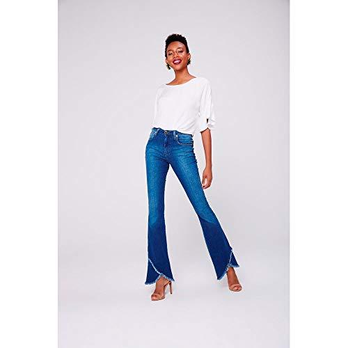 Calça Boot Cut Jeans Transpasse Barra Tam  36   Cor  Blue ... 97656123f07