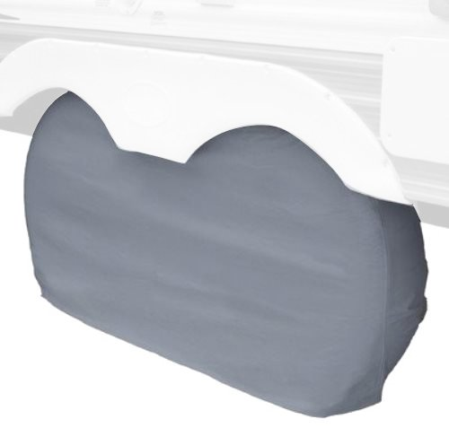 Classic Accessories 80-210-051001-00 OverDrive RV Dual Axle Wheel Cover, Grey, X-Large