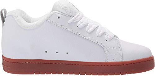 DC Men's Court Graffik Skate Shoe, White, 7 D M US
