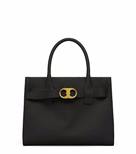 Tory Burch Gemini Link Belted Leather Tote - Tory Sale Burch