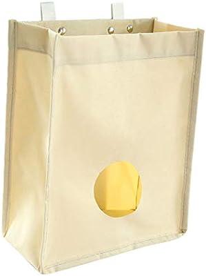 SwirlColor ultramarinos de la lona del bolso del sostenedor y dispensador de bolsas de basura Organizador bolsas de basura de reciclaje contenedores ...