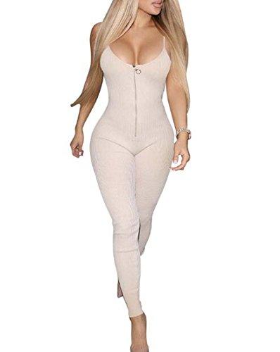 XIAOXAIO Jumpsuit M Taille Rouge Blanc Bandage Pantalon Solide Rompers Couleur Noir Sling Femmes Couleur awCSznYq4