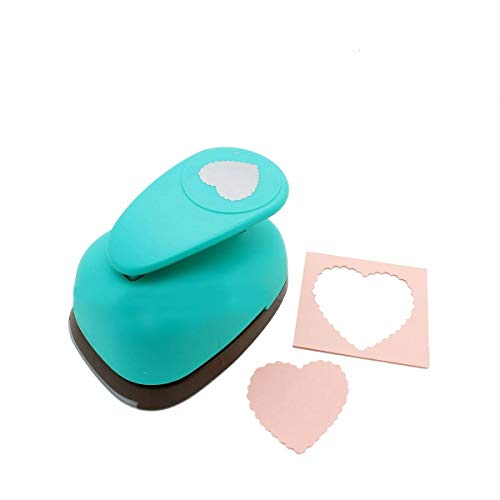 Bira 3 inch Scalloped Heart Lever Action Craft Punch,Valentine's Day Punch, for Paper Crafting Scrapbooking Cards Arts DIY Project
