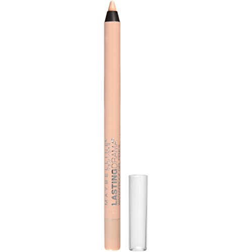 Maybelline New York Eyestudio Lasting Drama Waterproof Gel Pencil, Soft Nude, 0.037 Ounce (Best Eyeliner For Inner Rim Of The Eye)