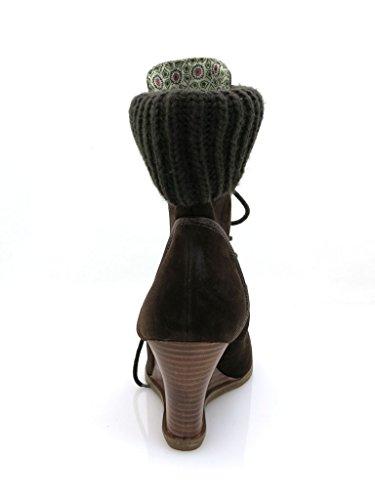 Chaussures avec cuir Bottine 6015 Kimkay Cuir femme en Bottines Strickschaft XqnFn0xt7d