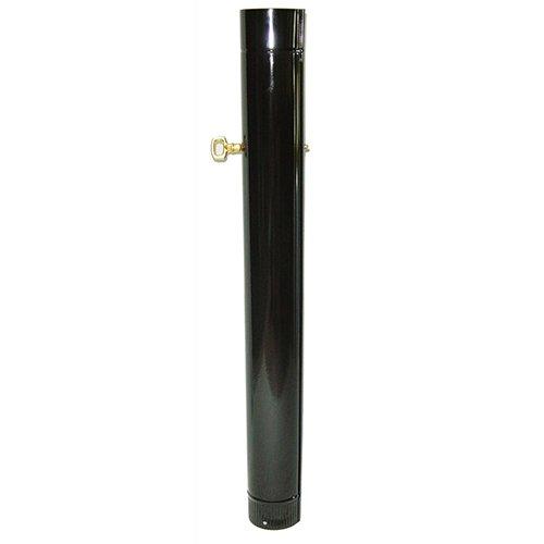 Ofenrohr mit Drosselklappe 100 x 1000 mm schwarz emailliert Rauchrohr Kaminrohr Giga-Gaas