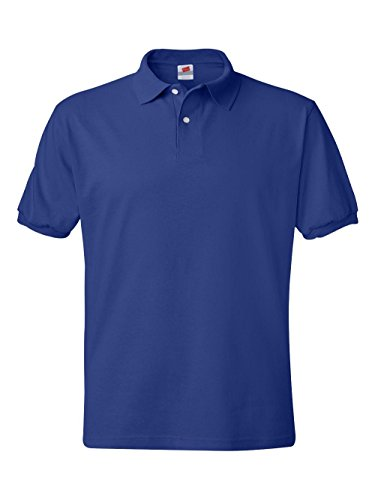 Hanes Men's ComfortBlend EcoSmart Jersey Polo,Deep Royal,XX-Large by Hanes