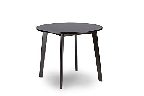 Baxton Studio Debbie Mid-Century Round Dining Table, Dark Brown by Baxton Studio