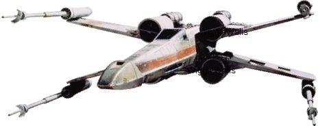 6 Inch Rebel Alliance X Wing XWing Fighter Star Wars Classic Episode IV Removable Wall Decal Sticker Art Home Decor Kids Room-6 Inches Wide By 2 1/2 Inches Tall