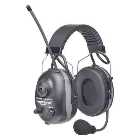 Electronic Ear Muff, 22dB, Black, AM/FM