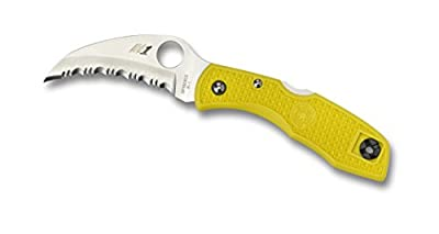 Spyderco Tasman Salt Serrated Edge Yellow H-1 Steel Knife from StealStreet (Home) :: Combat Knife :: Tactical Knife :: Hunting Knife :: Fixed Blade Knife :: Folding Blade Knife