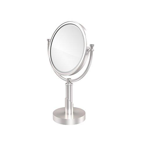 Allied Brass TR-4/4X-SCH Table Mirror with 4X Magnification, Satin Chrome (Allied Brass Table Mirror)