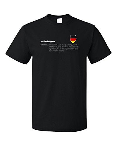 """Wininger"" Definition   Funny German Last Name Unisex T-shirt"