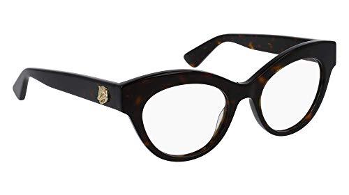 Gucci - GG0030O Optical Frame ACETATE (Havana, Clear) ()
