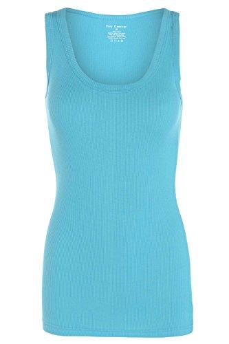 clicktostyle - Camiseta sin mangas - para mujer turquesa