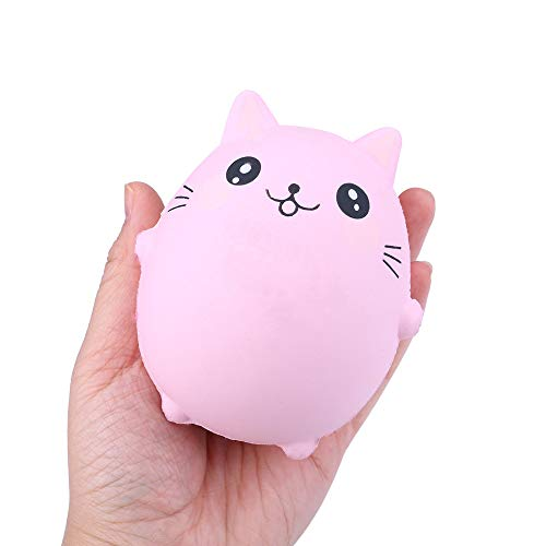 Naiflowers Squeeze Toys, Cat Panda Cat Cow Slow Rising Jumbo Squishy Kawaii Simulation Scented Stress Relief Toys for Kids Toddler Adults, Mochi Squishies Toys Novelty Party Gifts (Cat) -