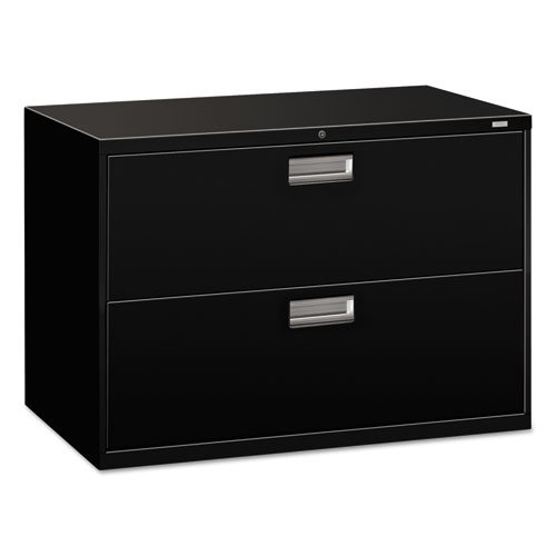 HON 2-Drawer Filing Cabinet - 600 Series Lateral or Legal File Cabinet, 42w by 19-1/4d, Black (H692)