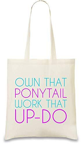 Ponytail Ce Drôle Up Cette Slogan Printed Fonctionne Naturel Color Soft 100 Funny do Unique Custom amp; Re Queue Cheval Bag De Own Work Cotton friendly Eco Posséder Tote That Natural w8Xxn0A7X