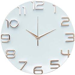 Relógio Parede Plástico/Aluminio Detached Numbers Urban Branco/Cobre Plastico/Aluminio