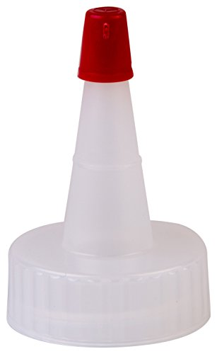 Red Plastic Cap (Consolidated Plastics 41229 Yorker Dispensing Cap with Red Seal, 24 mm, 24-400 Finish, 12 Piece)