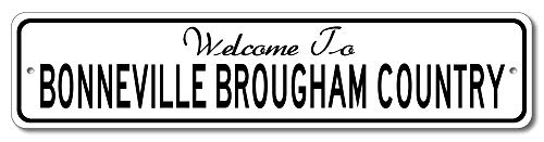 - Pontiac Bonneville Brougham - Welcome to Car Country Sign - Aluminum 4