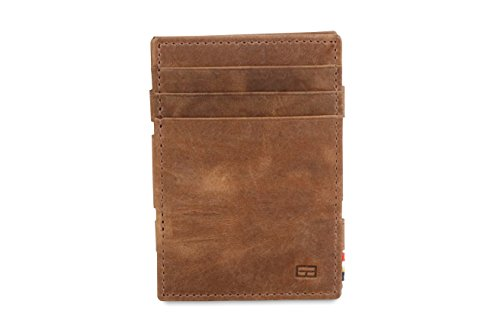 Leather RFID Brushed Garzini Coin Magistrale Brown Brushed Wallet Plus Magic qqaRI