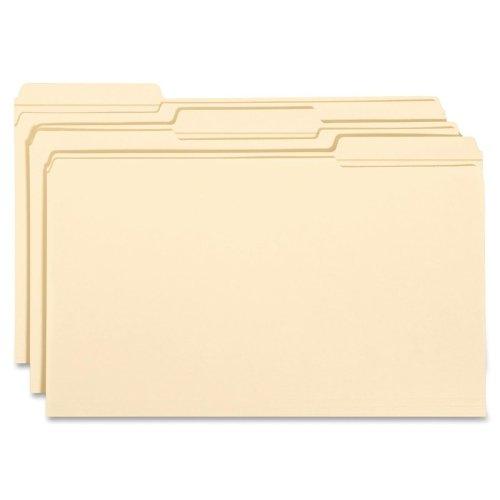 Wholesale CASE of 10 - Smead 1/3 Cut Manila File Folders-File Folders, 1/3 Ast Tab Cut, 2 Ply, Legal, 100/MLA ()